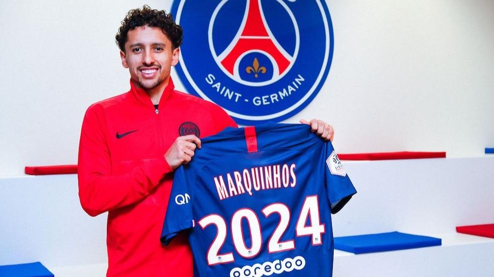 官方:马尔基尼奥斯和巴黎圣日耳曼续约至2024年