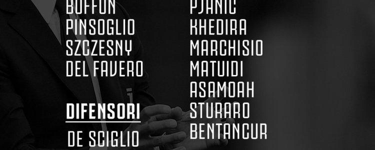 尤文对阵亚特兰大大名单:赫韦德斯因伤缺阵