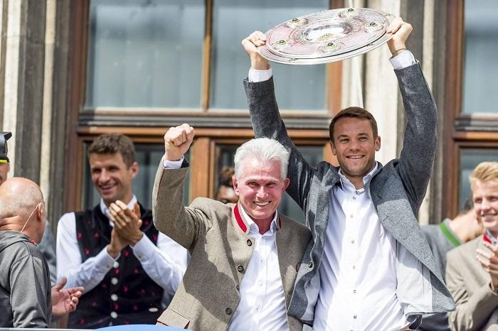 拜仁慕尼黑庆祝德甲冠军,送别海因克斯