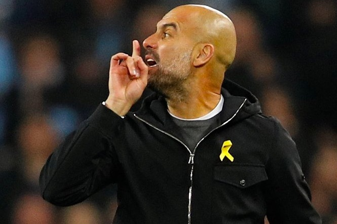 官方:瓜迪奥拉因在对阵利物浦比赛中的红牌被禁赛一场