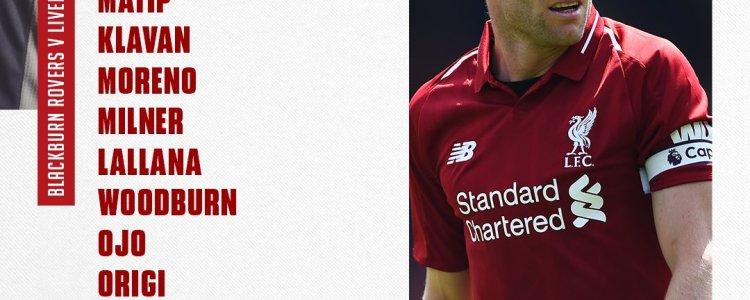 利物浦对阵布莱克本首发:卡里乌斯把守球门