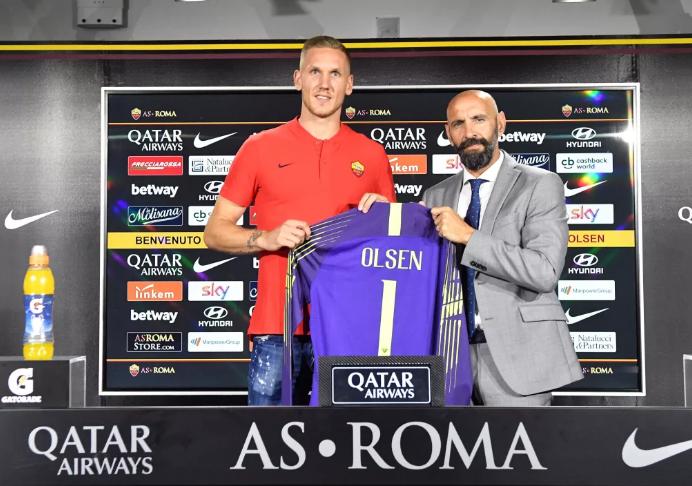 官方:罗马签下瑞典国门奥尔森替代阿利松