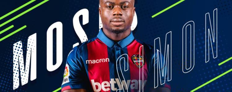 官方:莱万特从根特签下尼日利亚边锋莫塞斯-西蒙