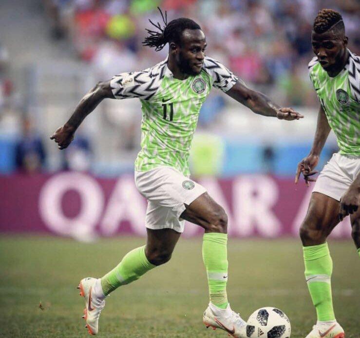 官方:切尔西边锋摩西宣布退出尼日利亚国家队