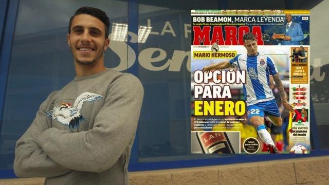 马卡报:皇马有意在冬窗引进西班牙新晋国脚埃尔莫索