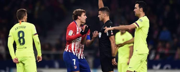 官方:足协驳回马竞对格列兹曼和卢卡斯黄牌的上诉