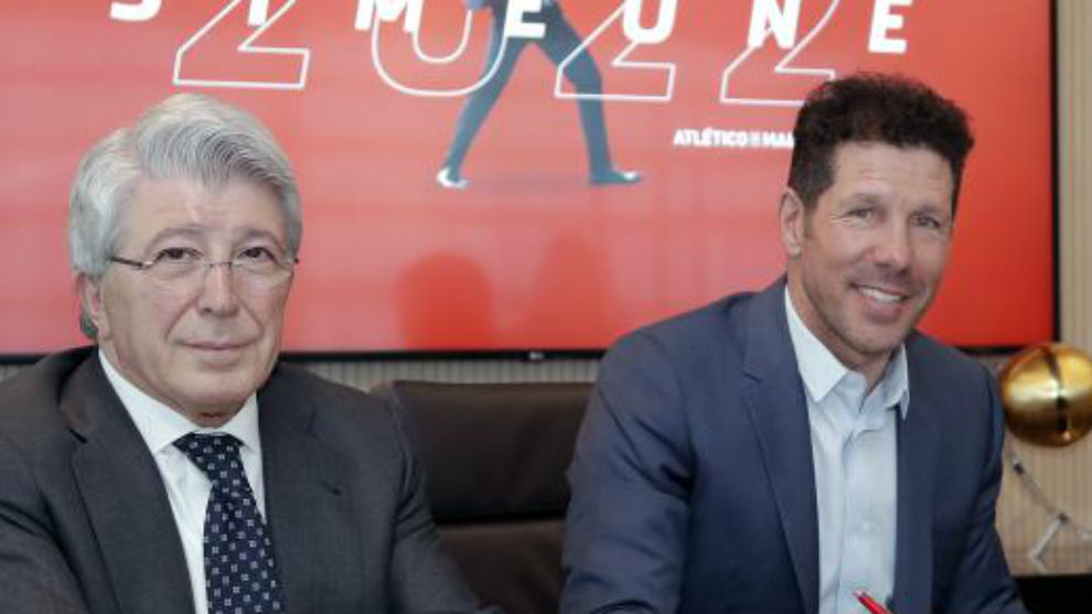 绝对信任,马竞主席致电西蒙尼,表达俱乐部的支持