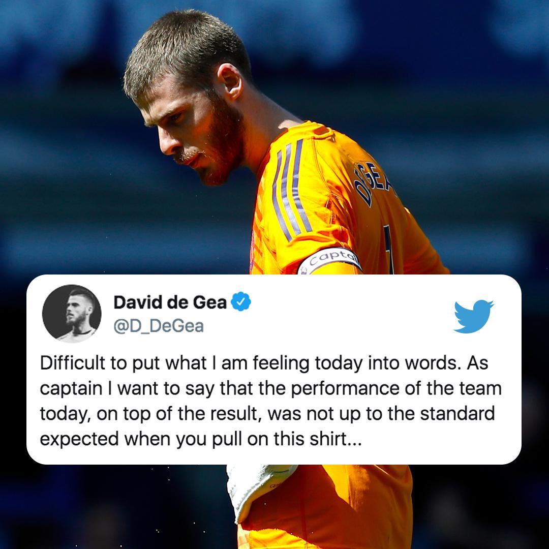 德赫亚推特致歉:我们的表现配不上大家对曼联的期待