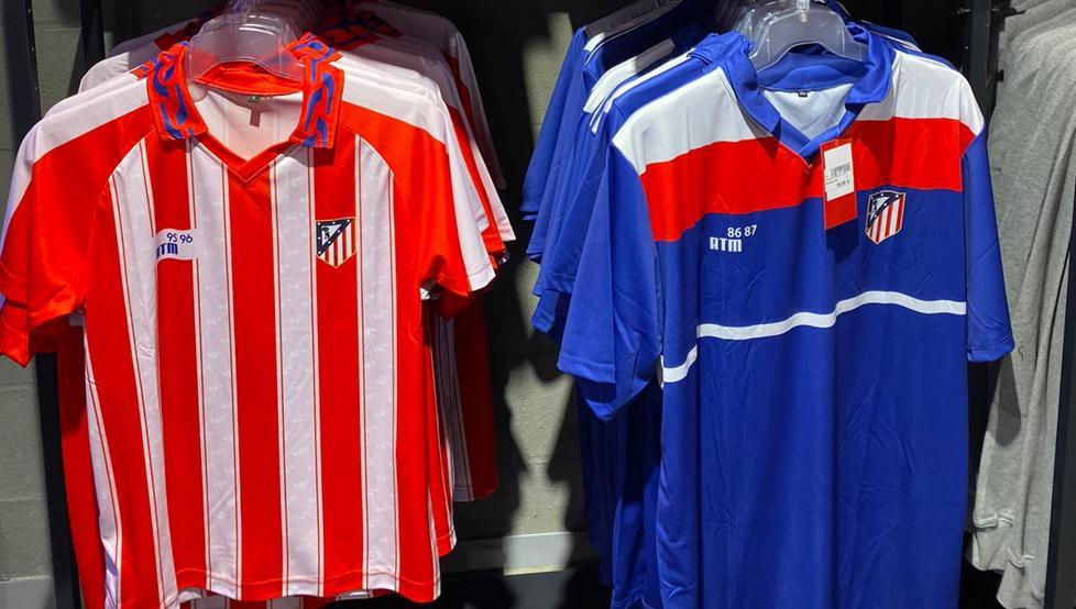 采用老款队徽,马竞官方推出两款复古款球衣