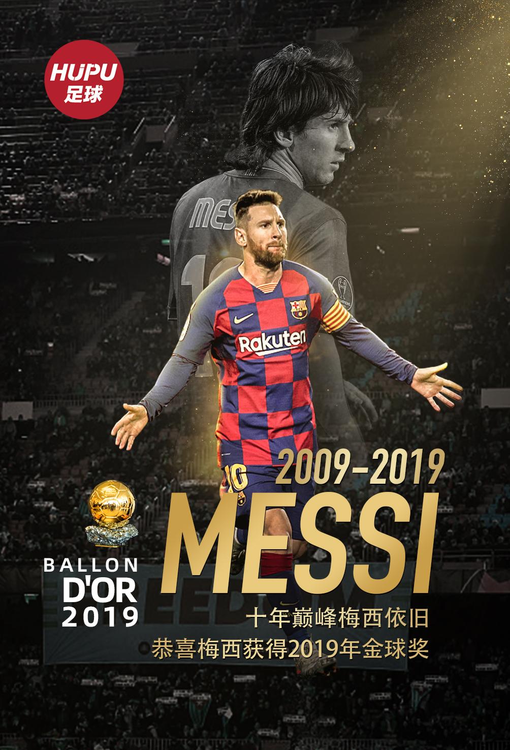 懸念揭曉,梅西獲得2019年男子金球獎