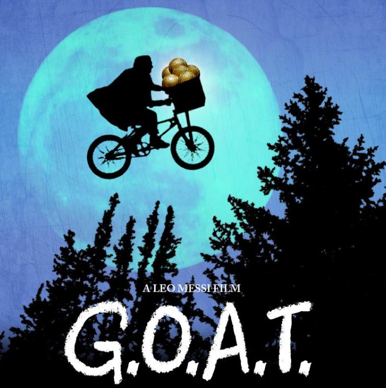 巴薩官推改編電影《外星人E.T.》海報,稱贊梅西史上最佳
