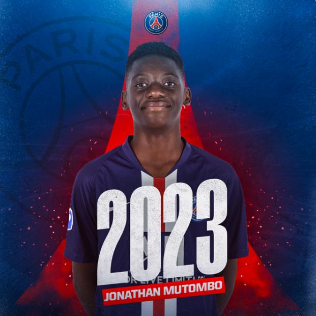 官方:巴黎圣日耳曼同17岁后卫穆托姆博签下第一份职业合同