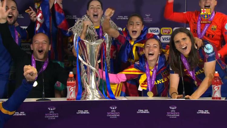 巾帼不让须眉!巴萨成首家男女足皆夺欧冠的俱乐部