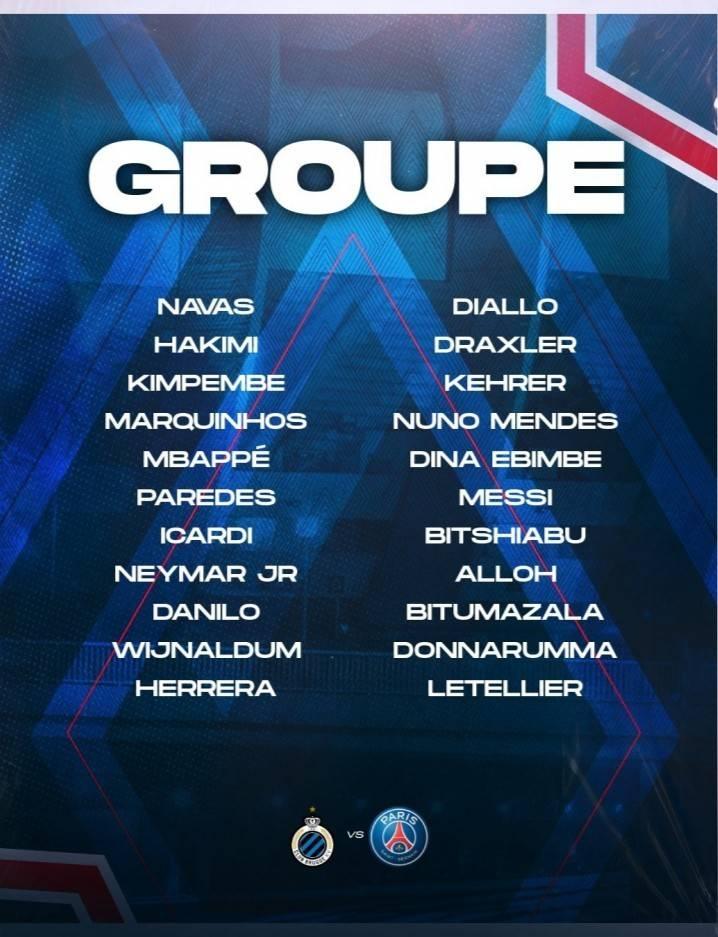 巴黎公布欧冠大名单:梅西、内马尔、姆巴佩领衔,拉莫斯缺阵