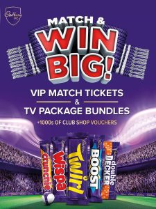 Win VIP match tickets and TV packages with Match & Win Big! 🍫🙌 Link in bio for more info! 👆 #mancity  UK/ROI, 18+, NPN NI & ROI, Closes 19.11.21