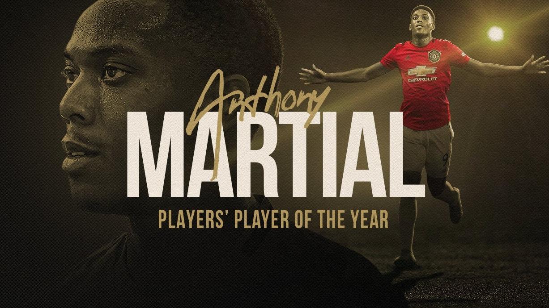 官方:马夏尔获得曼联2019/20年度球员票选最佳球员