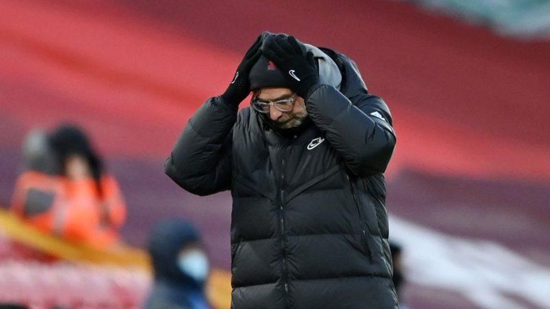 安菲尔德失守!利物浦联赛主场三连败,58年首次