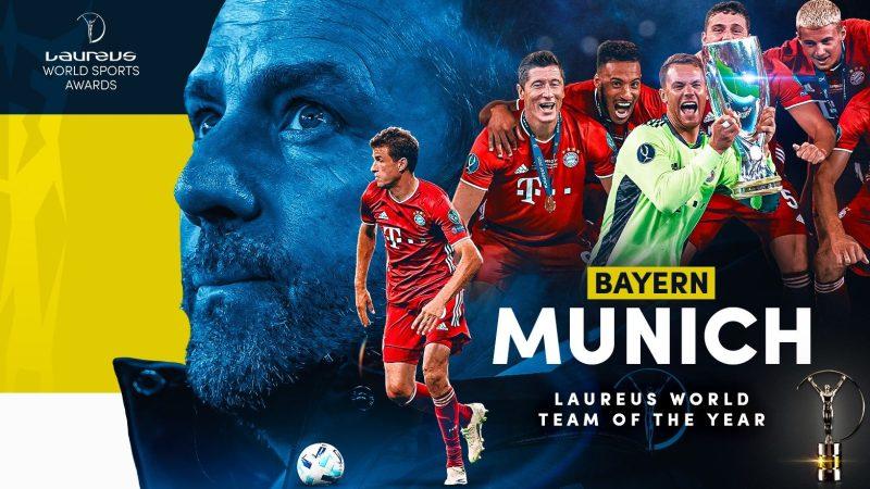 官方:拜仁慕尼黑当选2021年劳伦斯最佳体育团队
