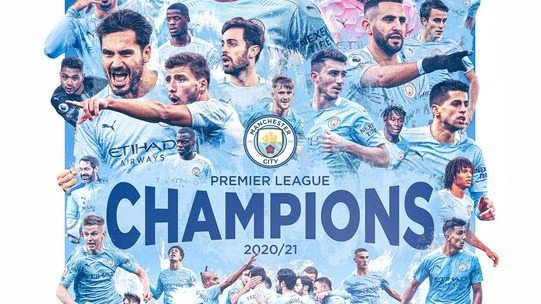 四年三冠!曼城重回英超冠军宝座