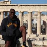 科比在希腊陪家人度假