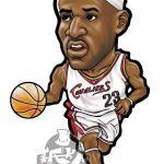 NBA球星的Q版漫画