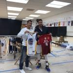 黄博文与库里交换球衣
